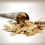Horn Cornucopia with Gold Coins